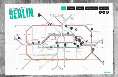 Streetart Map Berlin