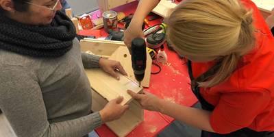 Holzbearbeitung mit Anna-Liisa