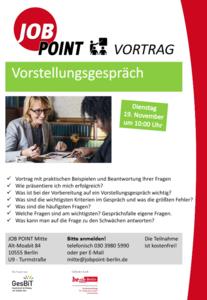 Infoveranstaltung: Vorstellungsgespräch - Sich erfolgreich p...