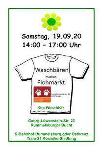 Plakat Flohmarkt Einladung