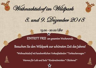 Weihnachtsdorf im Wildpark Johannismühle