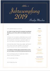 Jahresempfang - Khadija Moschee (Anmeldung erwünscht)